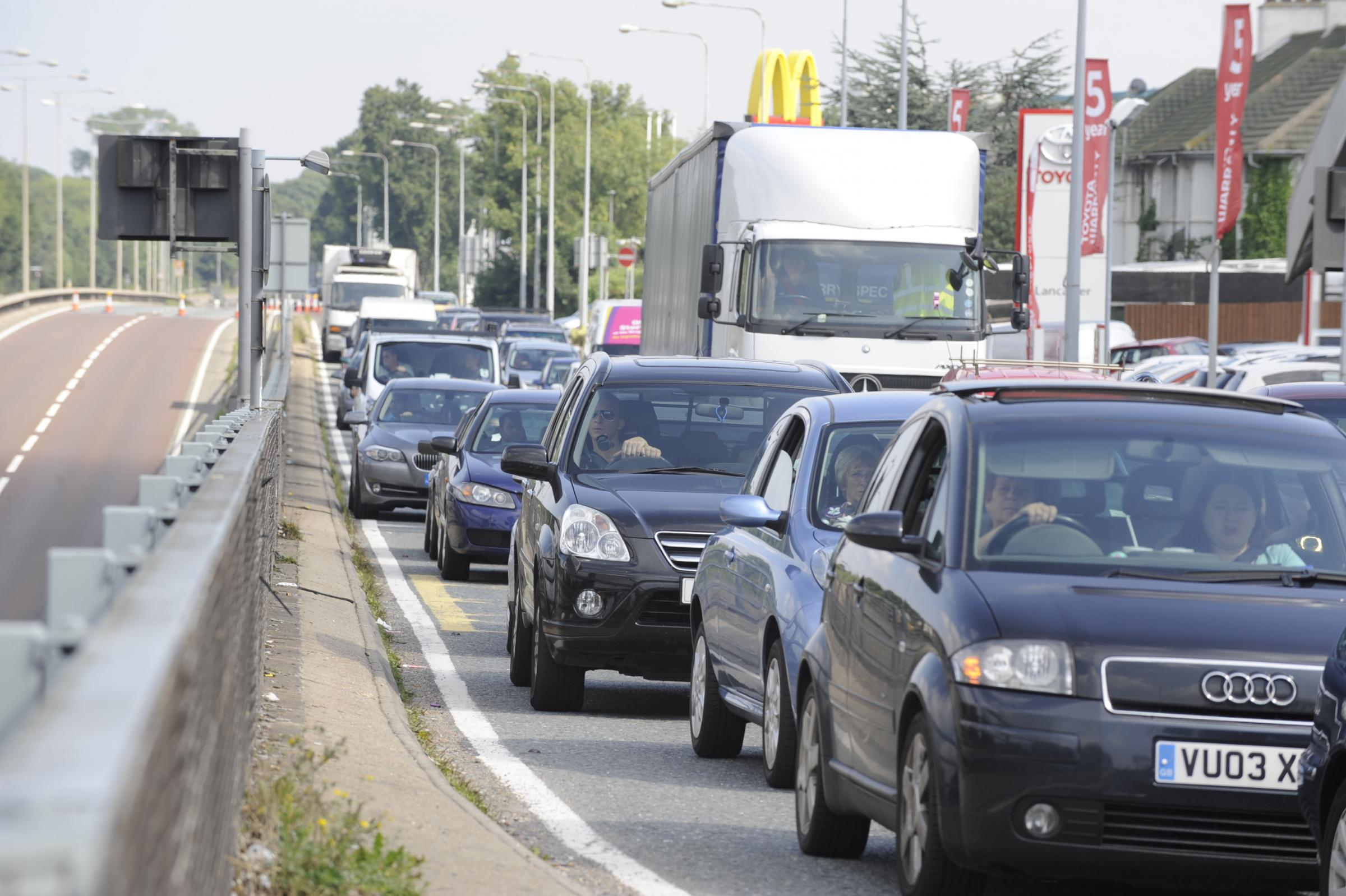 Cars were gridlocked back to Rayleigh Weir (file picture)