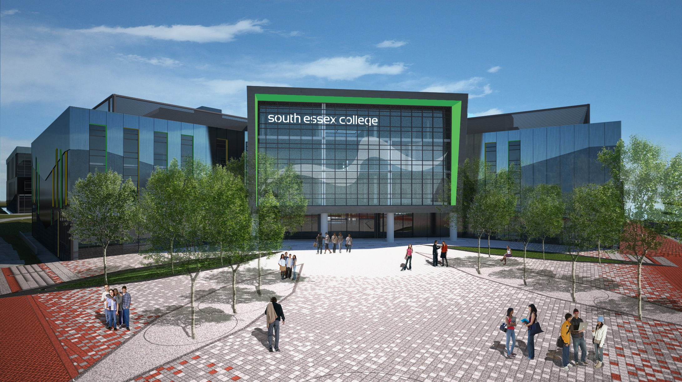 The £45million Thurrock Campus is beginning to take shape