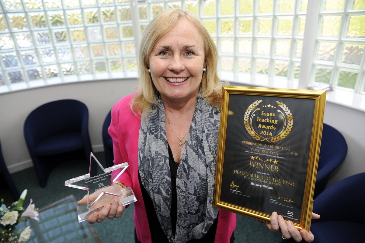 Thundersley school headteacher scoops top county prize
