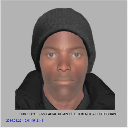 E-fit of the man police would like to speak to in connection with assault on Belmont Road