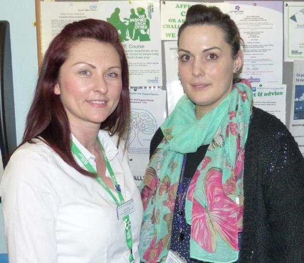 New service – Katy Low, clinical nurse specialist, and Charlotte Street, cancer services team leader