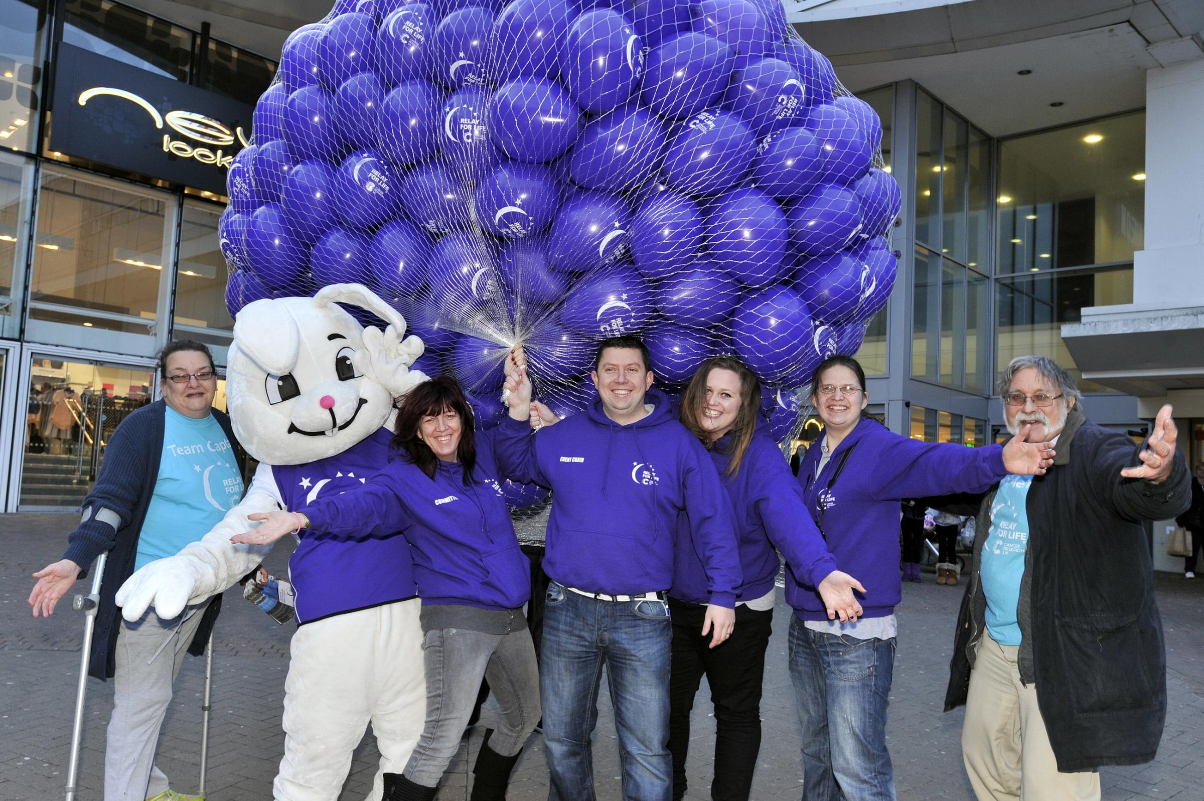 Southend Relay for Life: Balloons released to mark the launch of the 2014 event