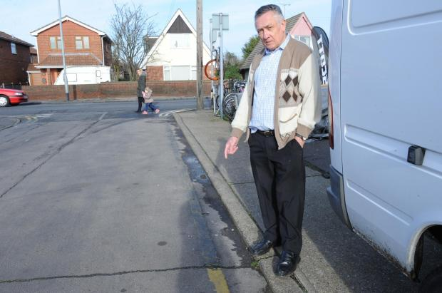 Vandals paint over double yellow lines on Canvey