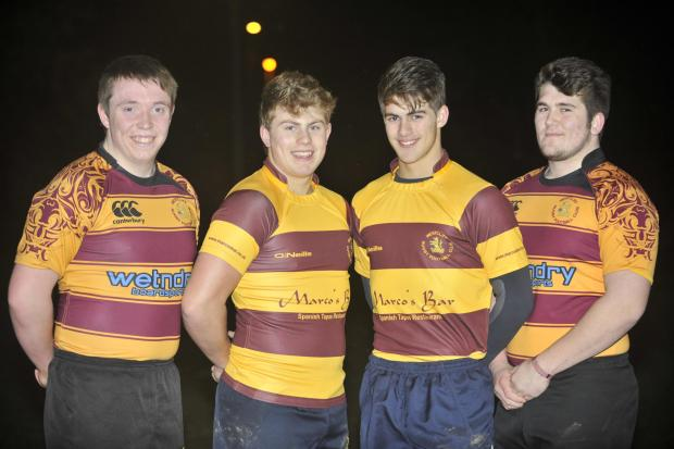 Awesome foursome – Westcliff Rugby Club's Billy Morrant, Harrison King, Jack Longhurst and Charlie Brown have been called up to the region's divisional sides