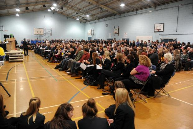 Crowds turn out to save Deanes: Scores of residents in support of the Thundersley school