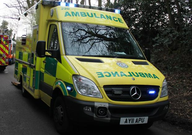 Motorcyclist treated by paramedics after crash