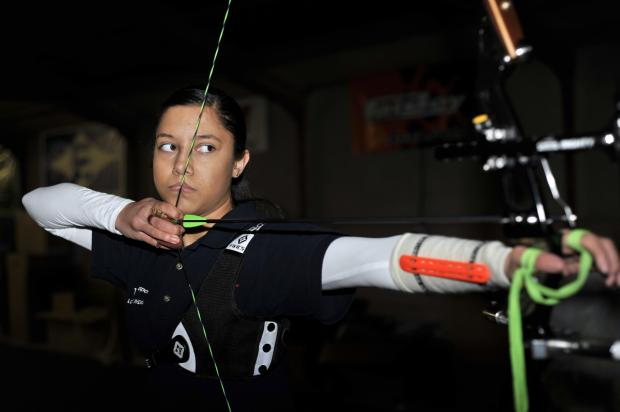 Lauren Bann, 13, is training with Team GB Talent coach Tony Ferguson to be a future athlete in Archery.