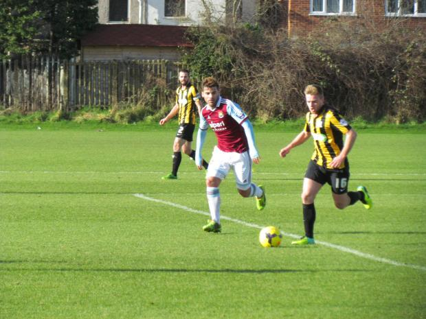 Conor Clifford in action against West Ham UNited