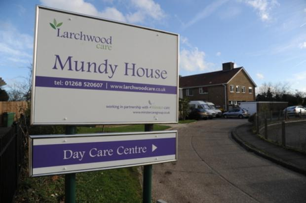 Closing – Larchwood Care's sign outside Mundy House, with a separate sign for the care centre