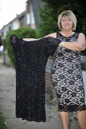 Deborah Cassar lost four stone after she saw herself in this dress.