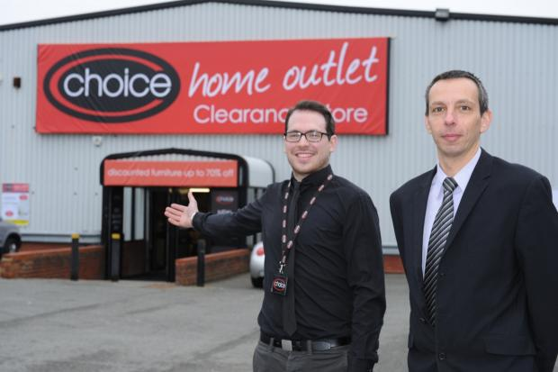 Aaron Dunn store manager with Darren Pritchard area manager