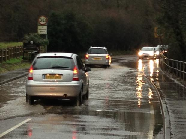 Echo: Flooding in Halstead, Essex, last week