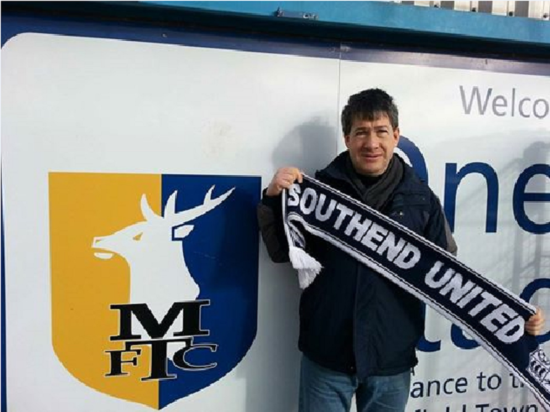 All wrapped up — Phil Cox racked up his 1,300th consecutive Southend United game when he watched Blues play Mansfield Town at Field Mill on Saturday
