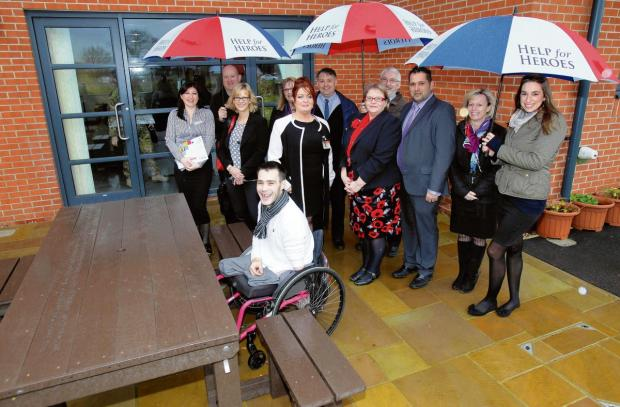 Veteran Alex Stringer unveils new bench at Help for Heroes' Chavasse VC House