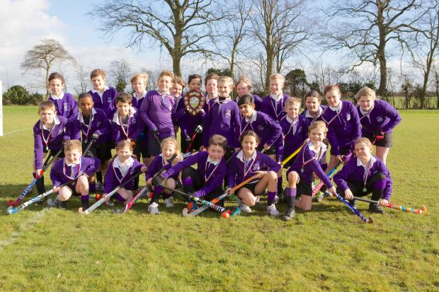 Jolly hockey sticks — the players from Thorpe Hall School's three teams which competed at the Southend Borough tournament