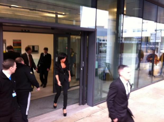 Echo: Tulisa Conotostavlos at Chelmsford Magistrates' Court this morning