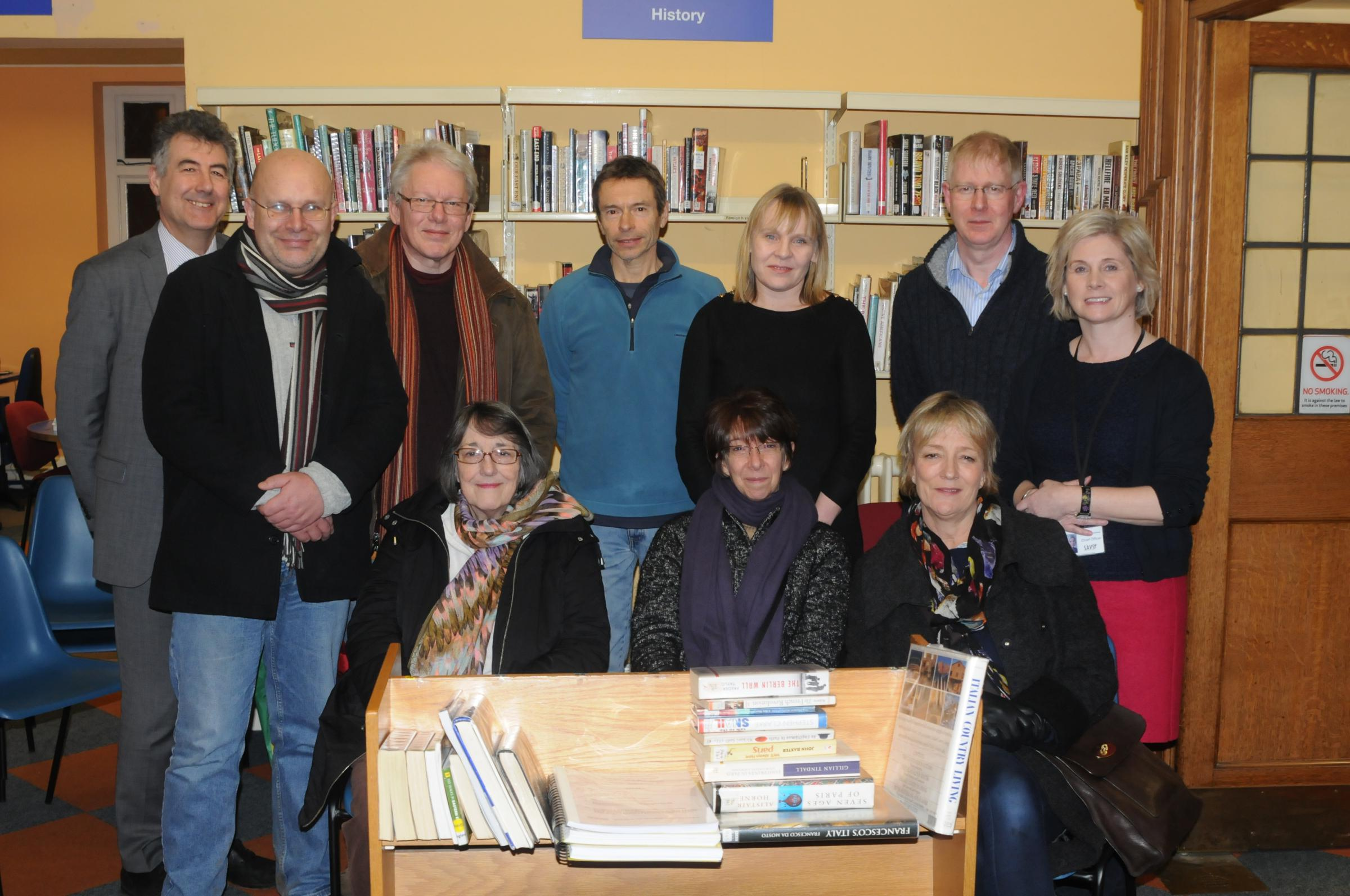 Some of the volunteers who have offered their help to Leigh Library