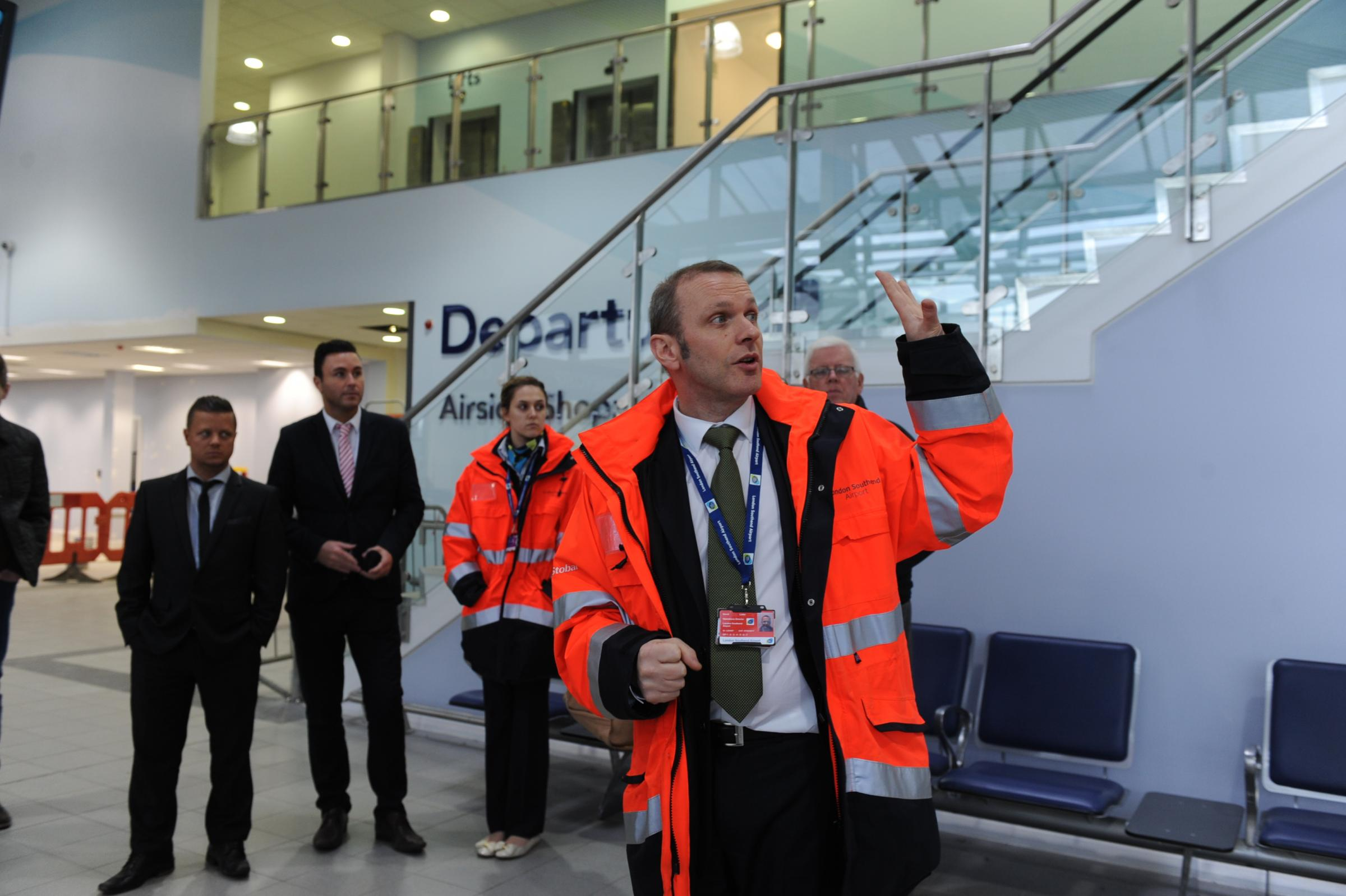 David Lister at the terminal before it opened earlier this year.
