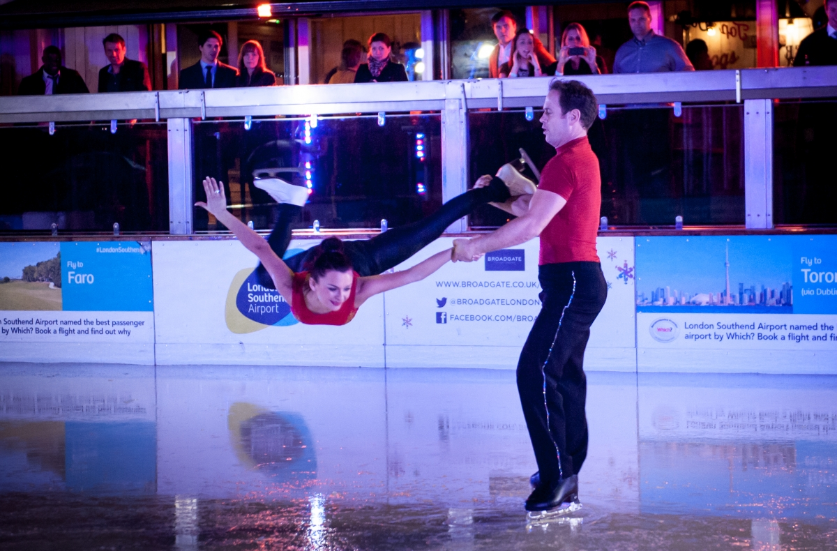 Ice work for stars  at airport's skate show