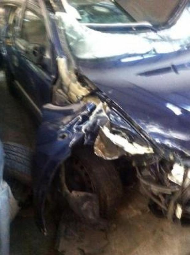 Echo: Mangled – Michelle Anthony's car was wrecked in the smash