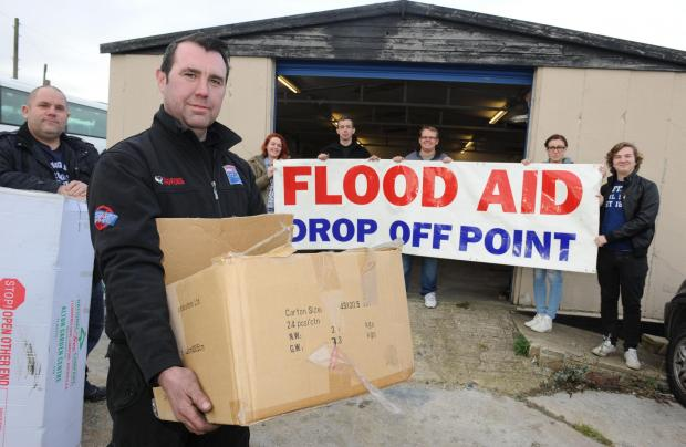 Benfleet firms band together to help flood victims