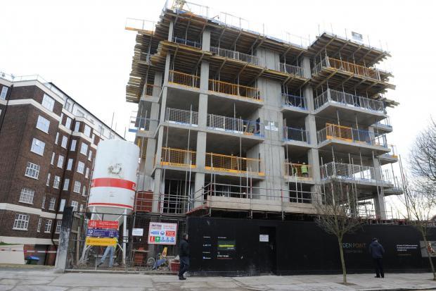 Echo: Under construction, Eden Point flats development, in Leigh
