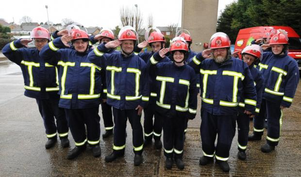 Echo: Reporting for duty - the Firebreak crew on parade at Hawkwell