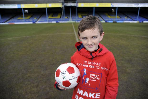 Jonjo's marathon dribble to boost cancer charity