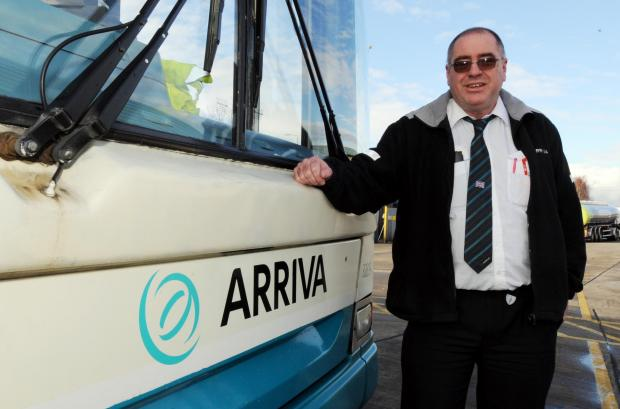 r driver – Ken McCormich with his Arriva bus