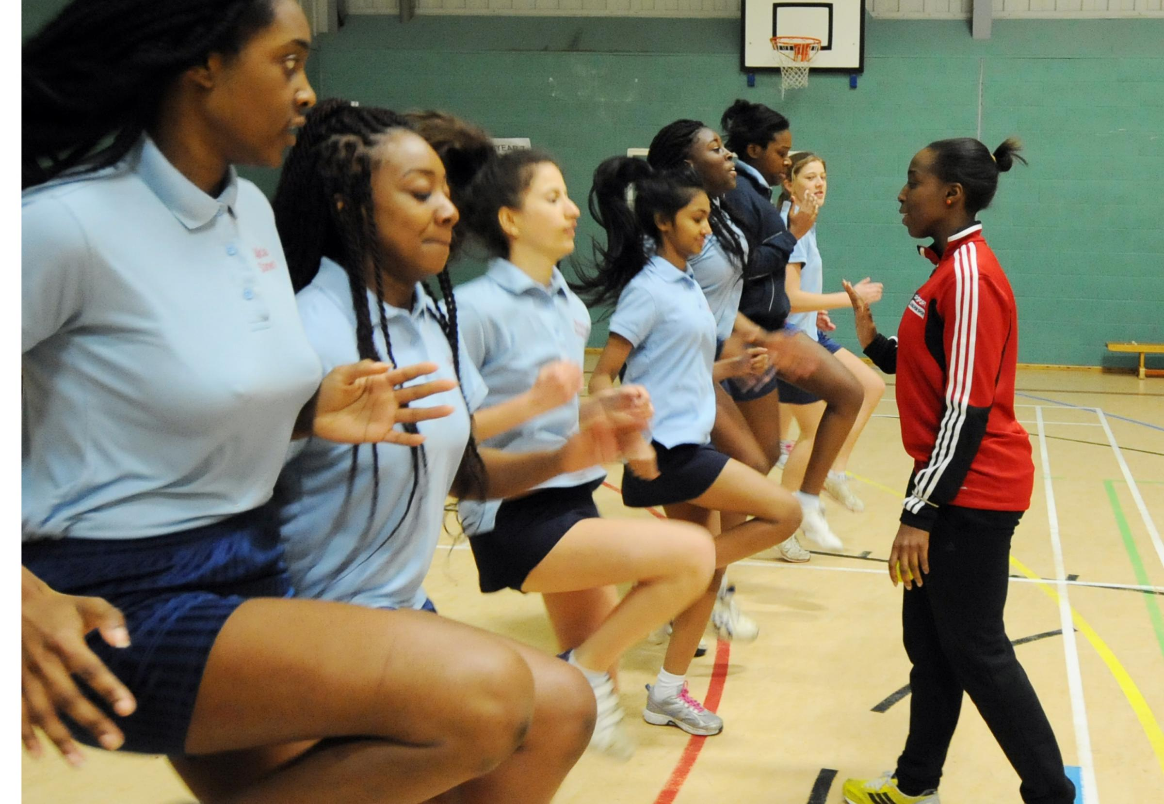 Top tips – Jeanette Kwakye works out some of the Westcliff High School pupils