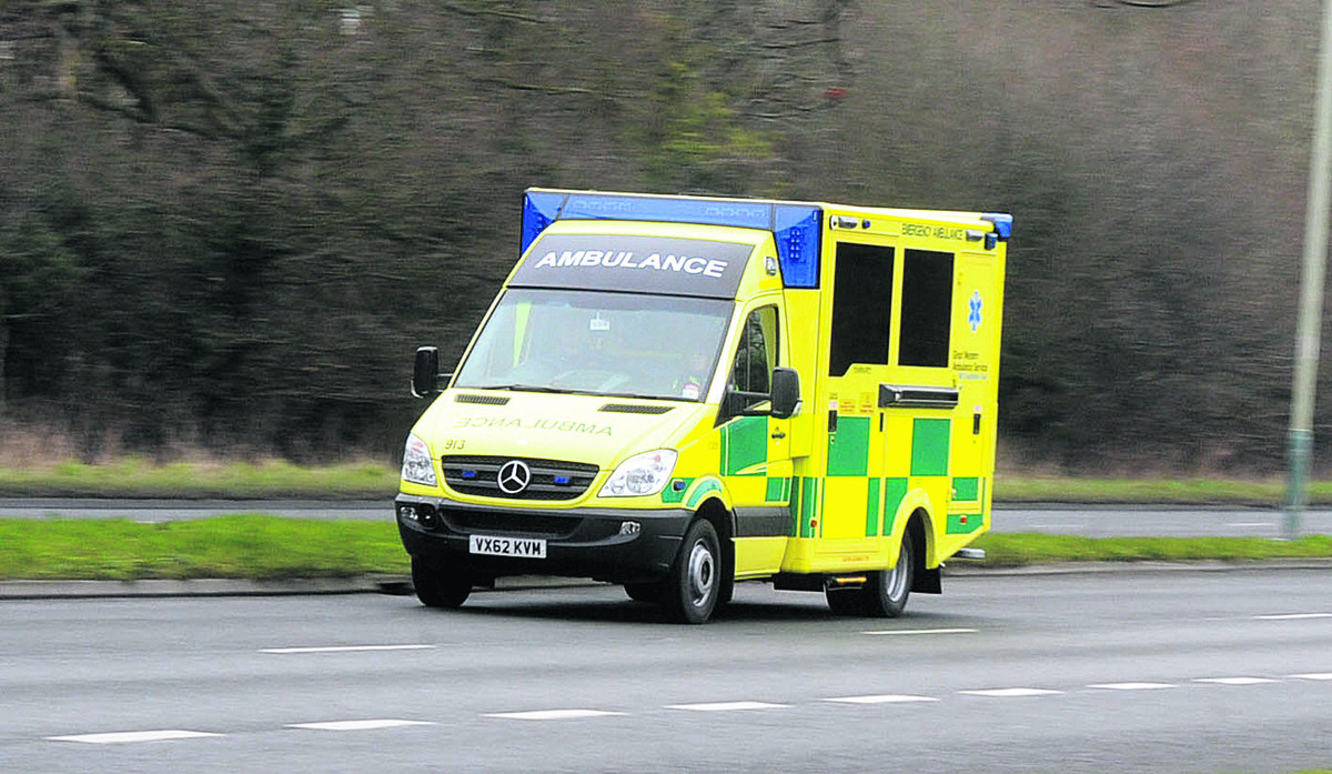Road closed after person hospitalised in truck and car collision