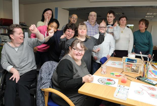 Celebrating – all smiles at the Papworth Trust centre in Basildon