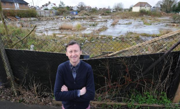 Derelict – many want the plans to go ahead, but Paul Range-Dye is happy with the site as it is