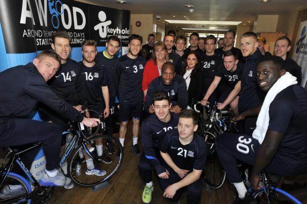 Blues players take up hospital's charity ride