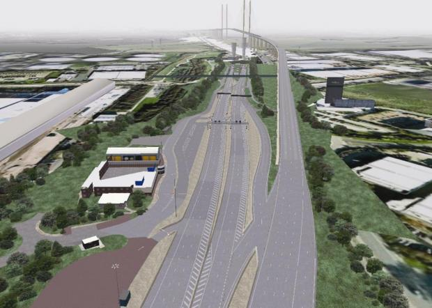 Echo: Is this how the free-flow toll system at the Dartford Crossing will look?