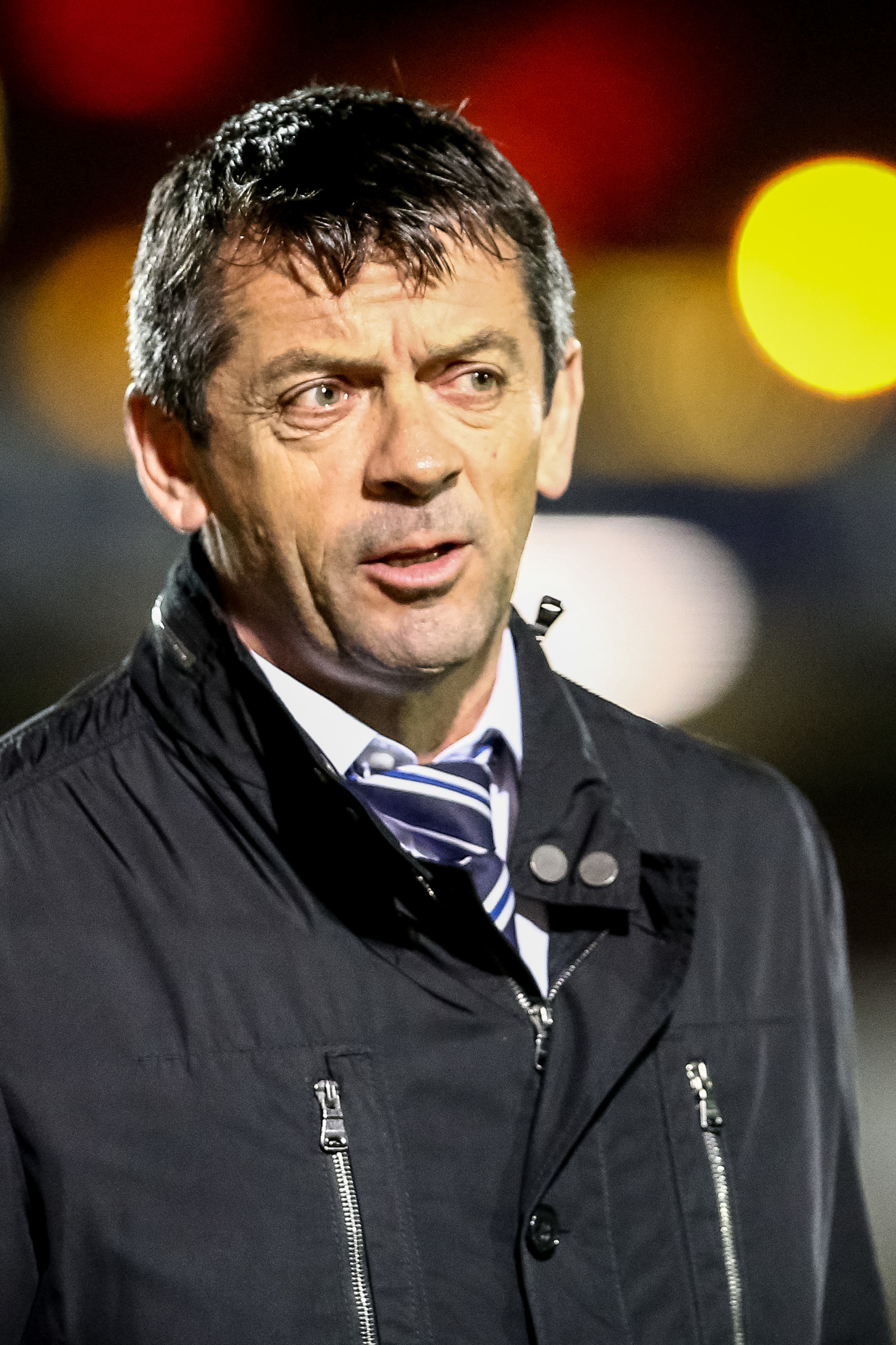 Phil Brown - taking a look at Spanish midfielder Alberto De las Heras
