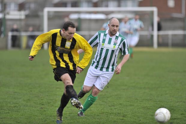 Taking it in his stride — Dan Trenkel (right) reckons Wakering are masters of their own destiny