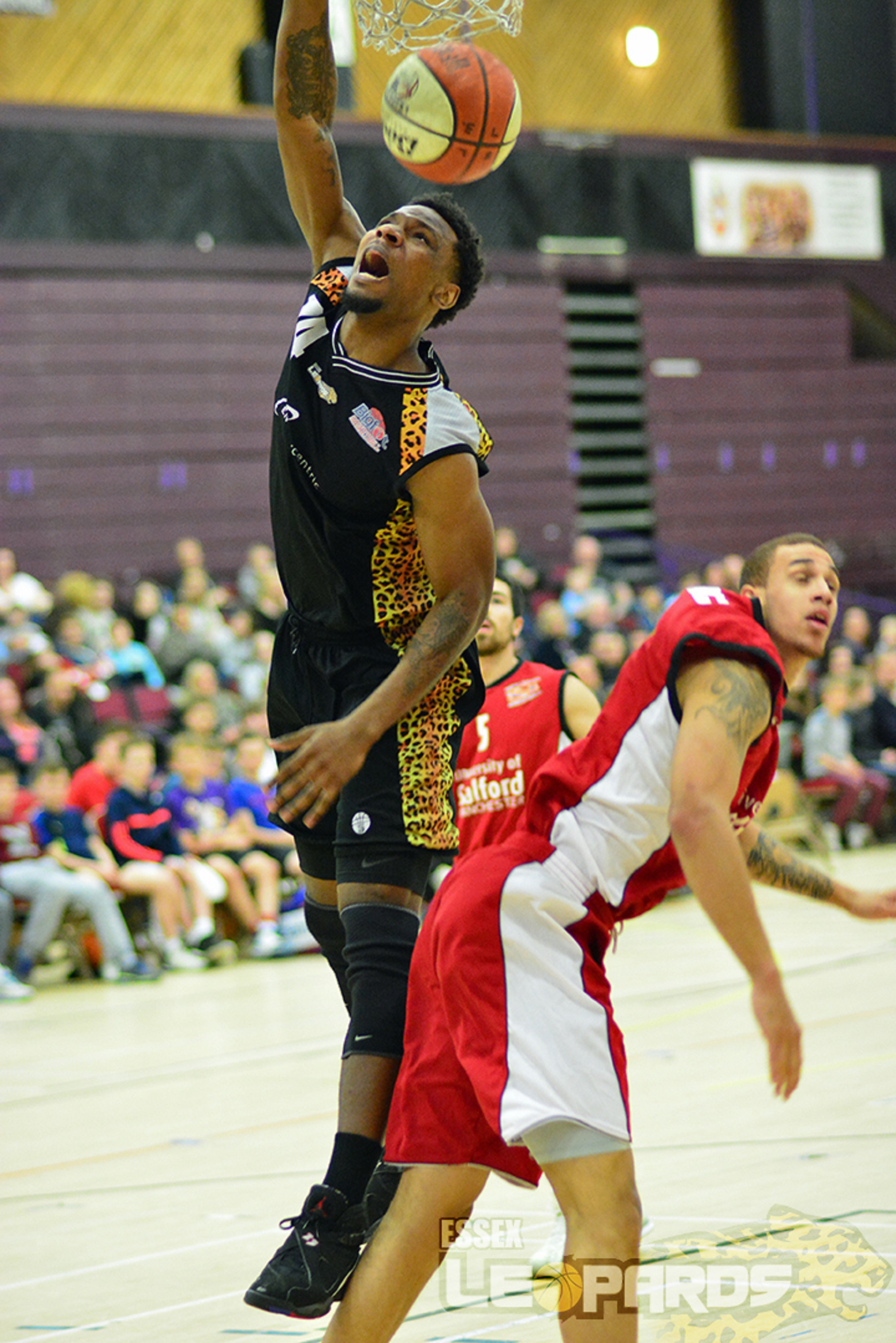 Leading the way — Howard Crawford was the top scorer for Essex Leopards against Reading and Manchester