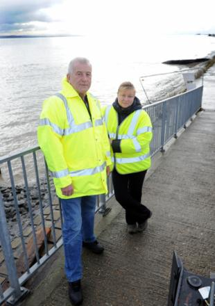 Nick Harvey and wife Irina – looking to start up a flood wardens group