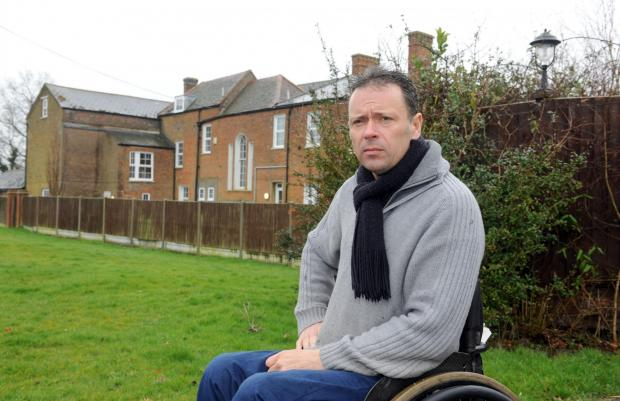 Steve Bates – fears his peaceful existence will be disrupted by party venue next door