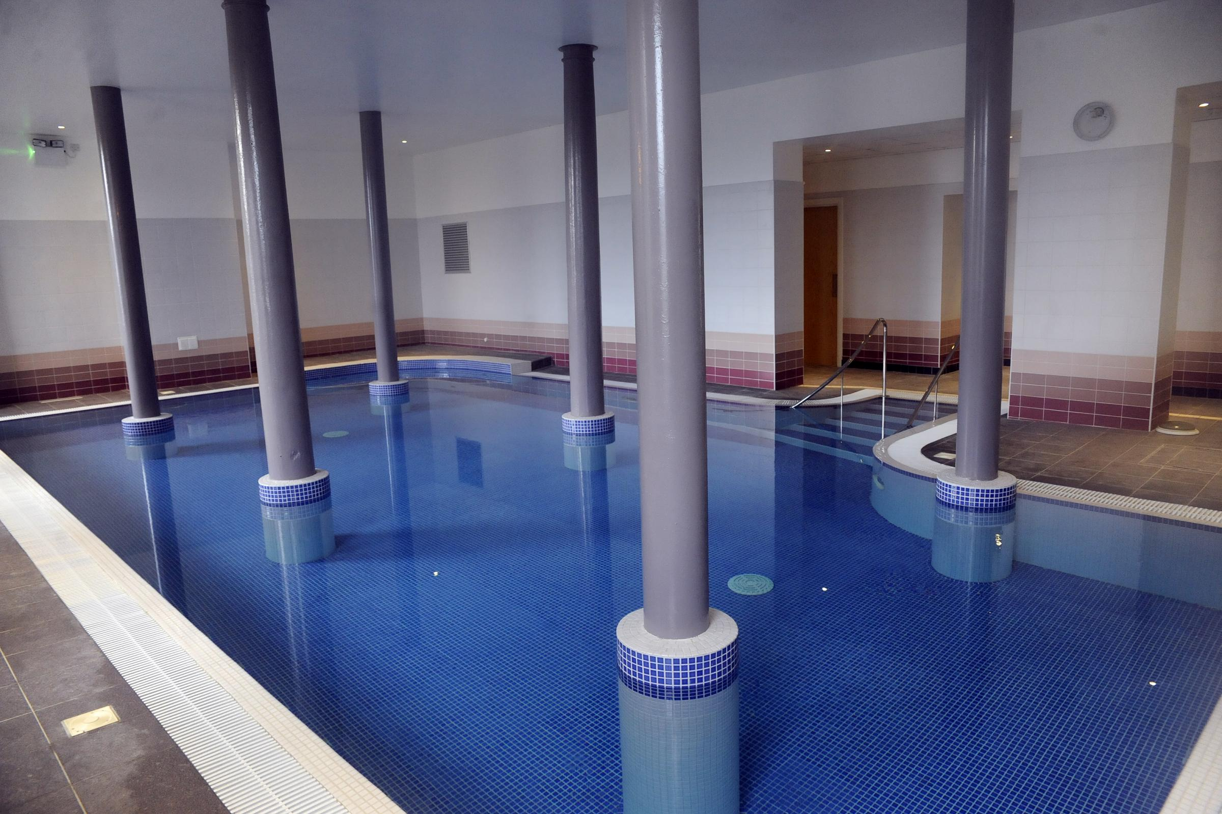 One of the pools in the spa