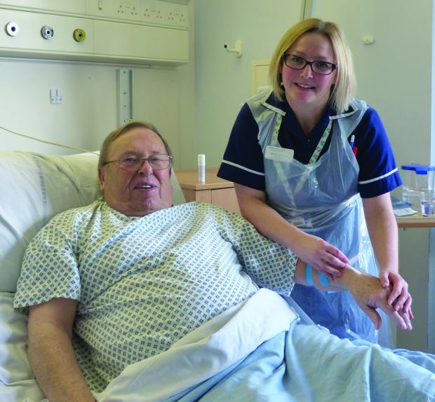 On the mend – Roy Hammon and ward sister Nicola Vilar