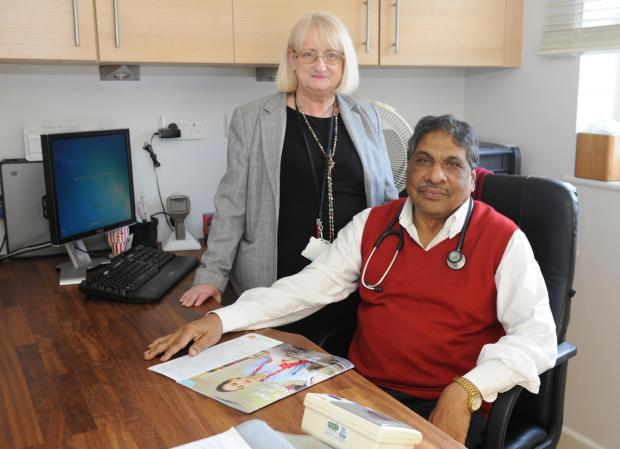 Dr Alexander Pattara and practice manager Anna Richardson