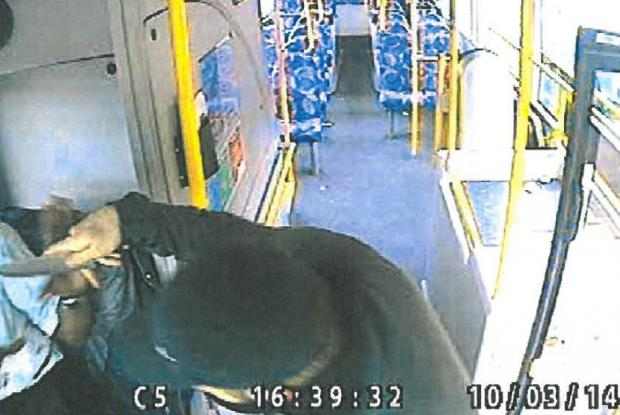 Bus driver stabbed in the hand during brutal robbery