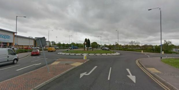 Roundabout at Fossetts Way. Picture by Google Streetview