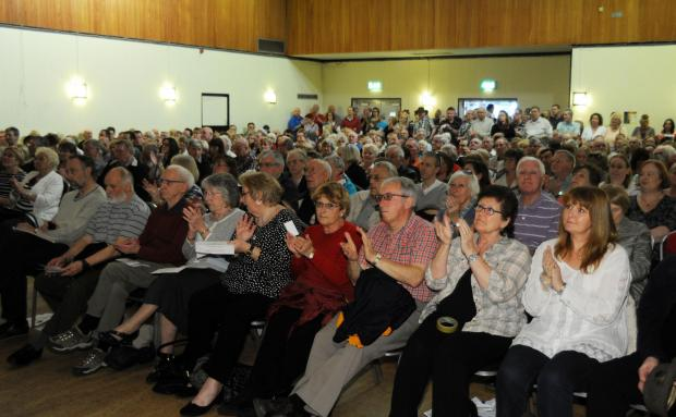 Scores of people turned out to the Rayleigh Action Group meeting