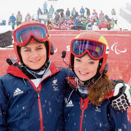 Caroline Powell (left) and Jade Etherington took silver in the combined today. Picture: Paul Sanwell/OP Photography