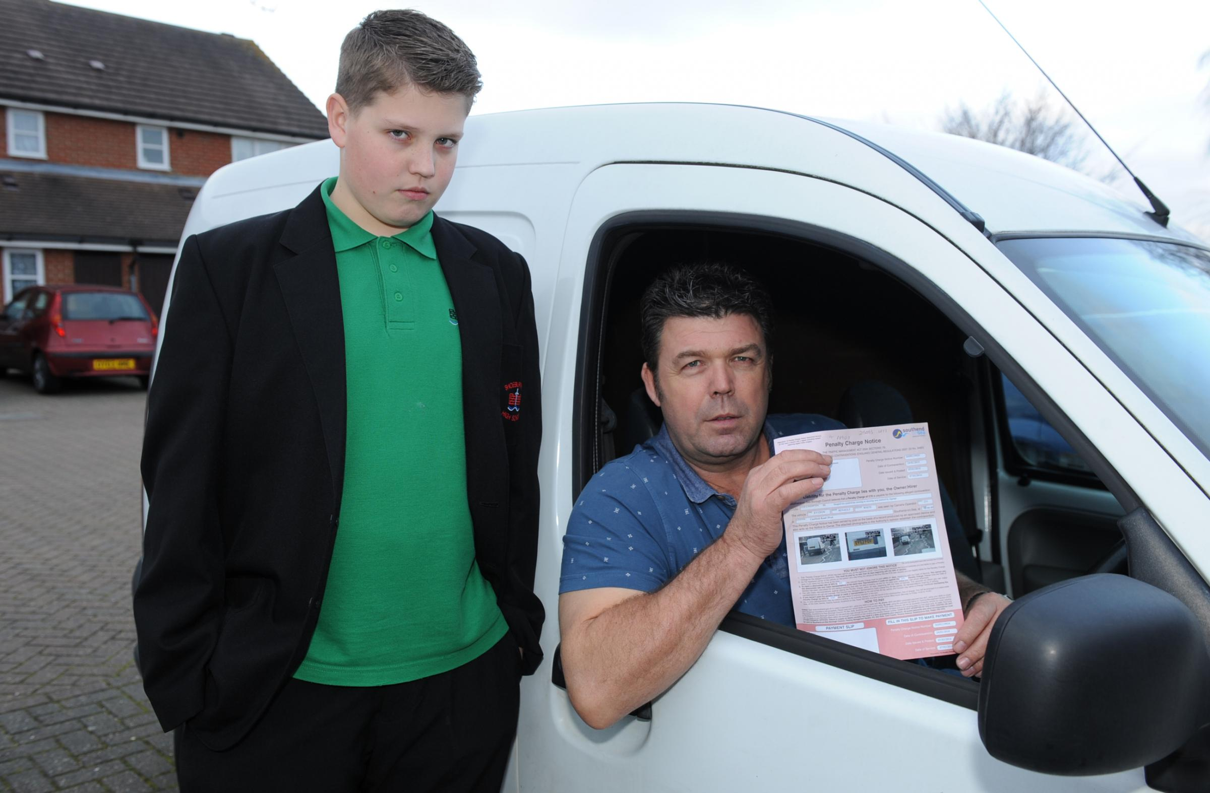 Snared by spy car...for letting kids cross road! Southend dad's ticket for stopping outside school for seven seconds