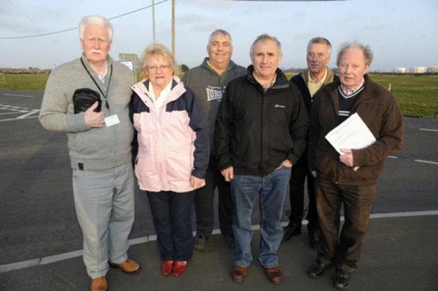 Funding call – John and Doreen Anderson, Peter Greig, Dave Blackwell, Alan Acott and Ray Howard where Haven Road,