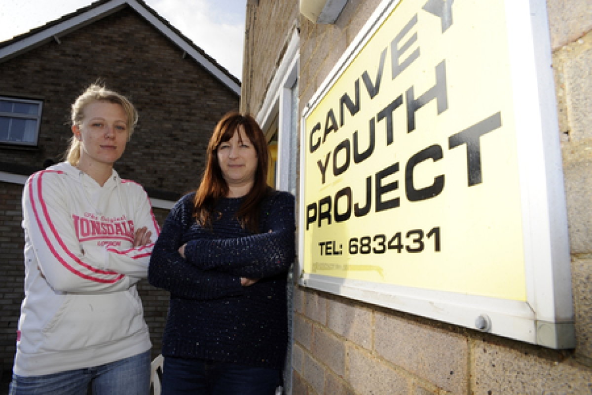 Distraught – youth project workers Mary Calder and Barbara Wilkins